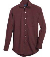 cole haan grand.øs burgundy stripe modern fit sport shirt