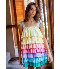 pitusa pinata tiered dress