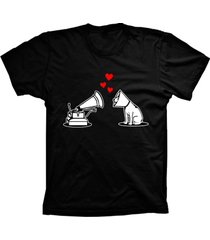camiseta baby look lu geek amor de cã£o preto - preto - feminino - dafiti