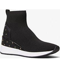 mk sock sneaker skyler in maglia stretch con borchie - nero (nero) - michael kors