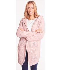 różowy sweter z kapturem jaśmin