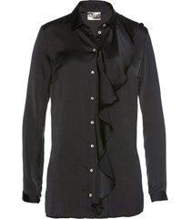 camicetta lunga in satin (nero) - bpc selection premium