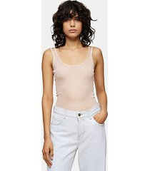 *ribbed tank by topshop boutique - beige