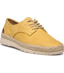 woms lace-up snörade skor låga gul tamaris