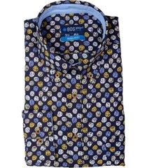bos bright blue overhemd katoen regular fit 20307wi26bo/500 multicolour