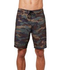 men's o'neill hyperfreak solid board shorts, size 40 - green