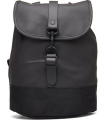 drawstring backpack ryggsäck väska svart rains