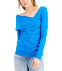 inc asymmetrical ruched top, created for macy's