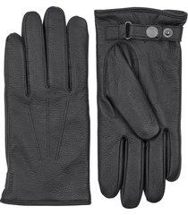 men's hestra eldner elk leather gloves, size large - black