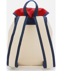 tommy jeans women's heritage small canvas backpack - corporate