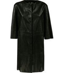 drome perforated long coat