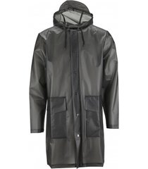 rains regenjas hooded coat foggy black