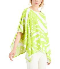 alfani abstract-print poncho top, created for macy's