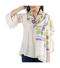 cashmere shawl, 'changthang rainbow' (india)