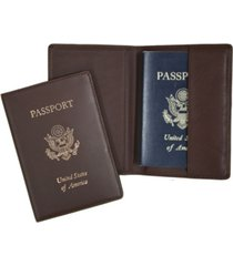 men's royce new york foil stamped rfid blocking passport case