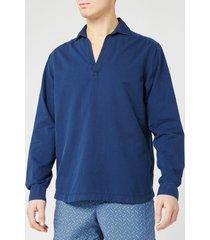 orlebar brown men's ridley indigo wash sweatshirt - washed indigo - l