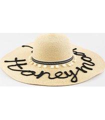 honeymoon floppy hat - natural
