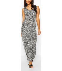 maternity ditsy floral scoop neck maxi dress, white