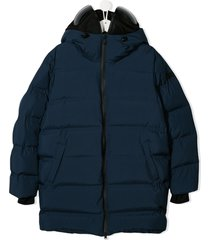 ai riders on the storm zipped padded coat - pink