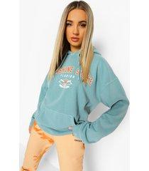 oversized overdye florida hoodie, sage