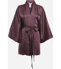 margherita mazzei satin kimono with contrasting back detail