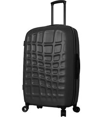 abstract croco 28-inch hardside spinner suitcase