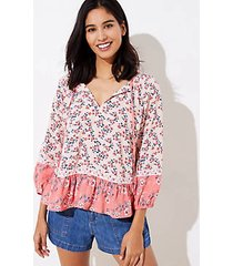 loft beach garden split neck top