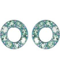 elemento paraiba and diamond earrings