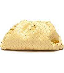 'the pouch' woven leather clutch