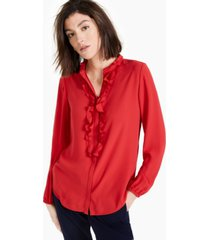 bar iii ruffled blouse, created for macy's