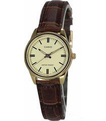 reloj casio dama ltpv 005gl-9a  calendario pulso en cuero original
