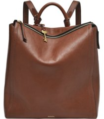 fossil parker leather convertible backpack