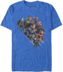 marvel men's avengers endgame hero angle, short sleeve t-shirt