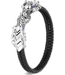 'legends naga' sapphire sterling silver double row bracelet