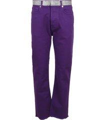 alexandre vauthier crystal belt high waist jeans