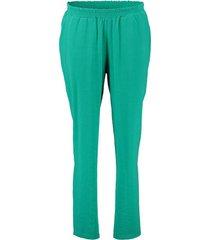 broek solid elastic groen
