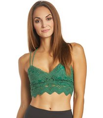 free people women's ilektra bralette - green - x-small cotton
