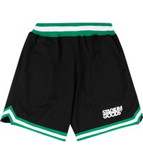 stadium goods mesh logo shorts - black