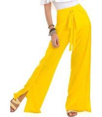 calça pantalona crepe feminina
