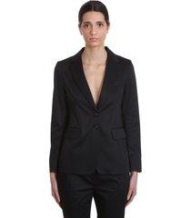 mauro grifoni tailleur dress in black cotton