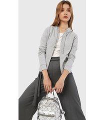 chaqueta gris active