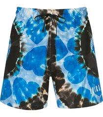 amiri all-over print swim shorts - blue