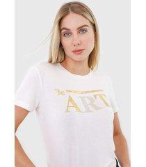 camiseta morena rosa be art. off-white - off white - feminino - viscose - dafiti