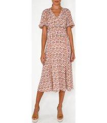 nicole miller women's floral midi dress