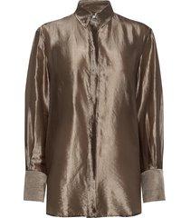 akira metallic shirt blouse lange mouwen beige filippa k