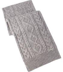 women's michael kors diamond cable muffler scarf, size one size - grey