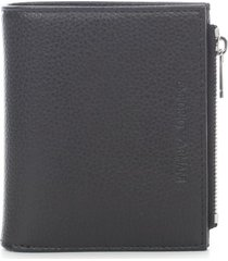 emporio armani leather wallet card holder