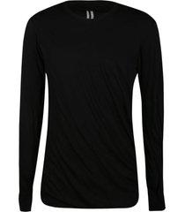 rick owens plain double sweatshirt
