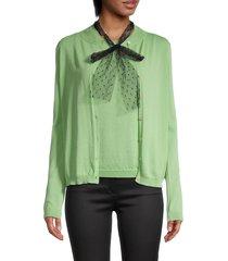 redvalentino women's knit cardigan & tank twin set - melange - size xs