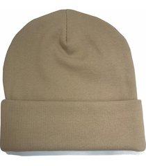 bawełniana czapka beanie karmel